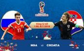 Link xem trực tiếp bóng đá World Cup 2018 Nga vs Croatia, vòng tứ kết lúc 1h00 ngày 8/7