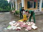 Quảng Ninh: Bắt quả tang vác 150kg thịt lợn nhập lậu từ Trung Quốc