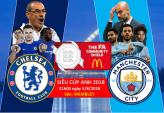 Link xem trực tiếp bóng đá Chelsea vs Man City, Siêu cúp Anh