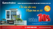 Eurowindow giảm 10% nhân dịp triển lãm Vietbuild Hà Nội 2019