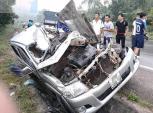 2 ôtô đấu đầu trên quốc lộ, một tài xế tử vong