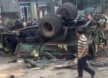 30 lính bộ binh gặp nạn khi xe tải quân sự bị lật