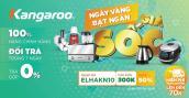 Giới thiệu gian hàng chính hãng trên Shopee, Kangaroo giảm mạnh đến 50% các sản phẩm gia dụng