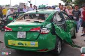 Ôtô tải tông taxi, một người tử vong