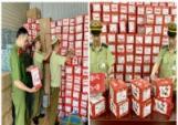 Phát hiện hàng trăm hộp bột tôm muối do Trung Quốc sản xuất, không có hóa đơn