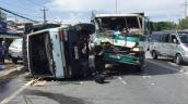 Quốc lộ 1 ùn tắc 10 km sau tai nạn liên hoàn giữa 3 ôtô
