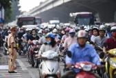 Cưỡng chế mặt bằng giờ cao điểm, Hà Nội kẹt xe hàng km