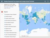 Ứng dụng tìm mạng wifi và mật khẩu tại các sân bay lớn trên thế giới
