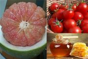 Mẹo giảm mỡ bụng thần tốc bằng bưởi và cà chua