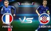 Link xem trực tiếp bóng đá Pháp vs Croatia, chung kết World Cup 2018