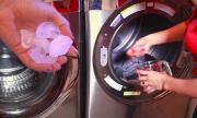 Cách làm quần áo phẳng lỳ chỉ bởi bỏ 3 viên đá vào máy giặt
